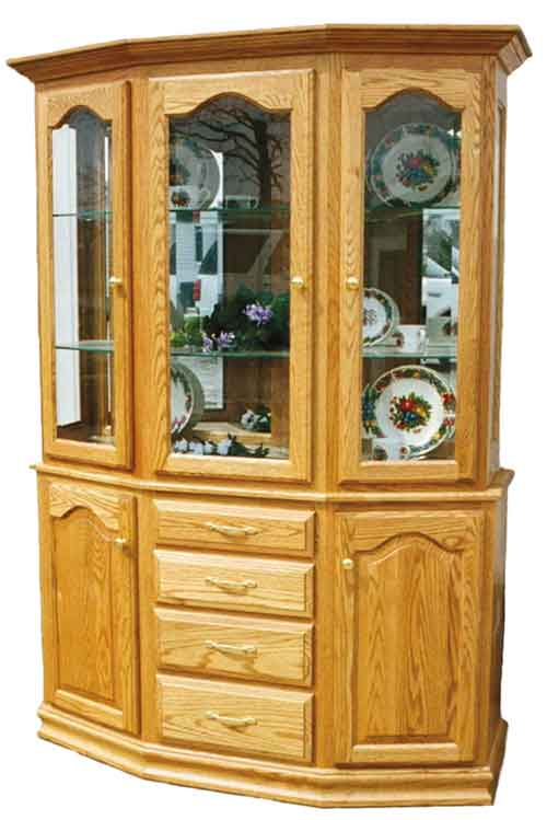 Amish Cantilever China Hutch